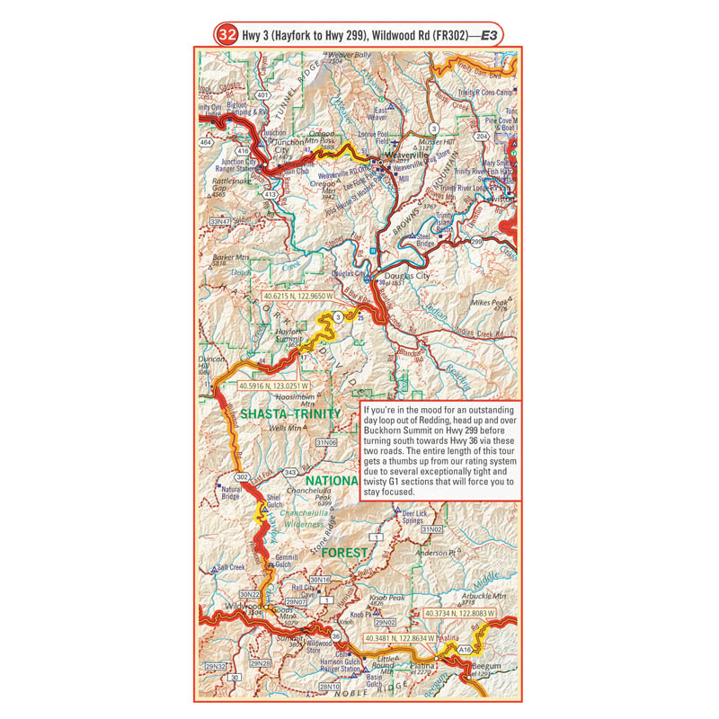 Northern California G1 Map Butler Motorcycle Maps