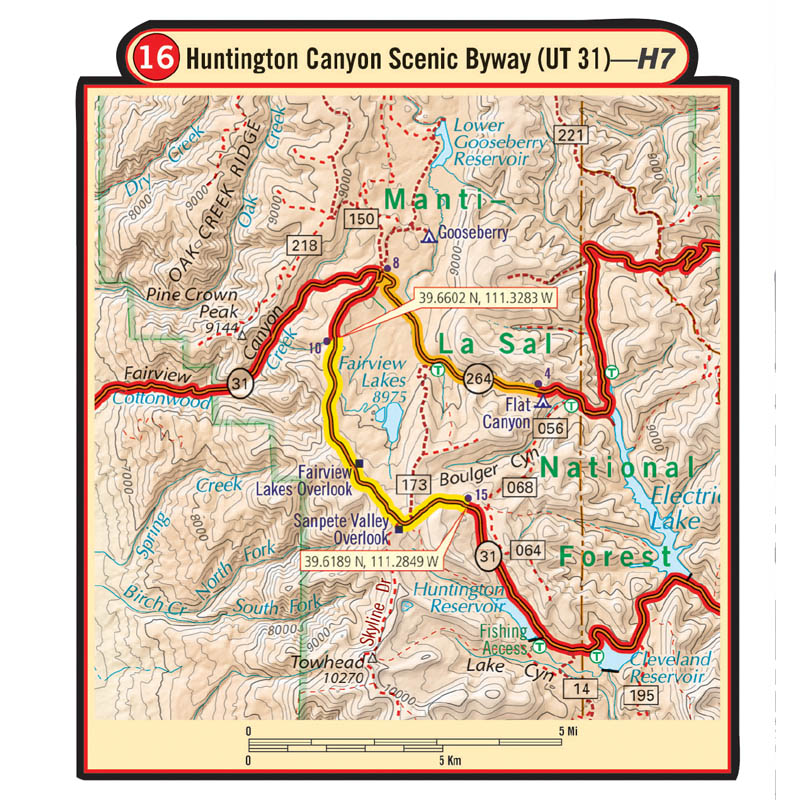Utah G1 Map – Butler Motorcycle Maps