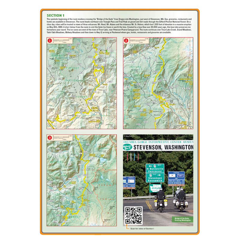 Washington Backcountry Discovery Route Map 2nd Edition Butler