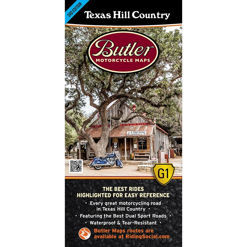 Texas Hill Country G1 Map – Butler Motorcycle Maps