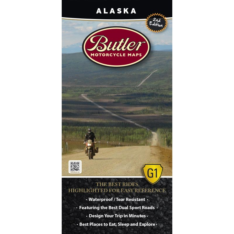 Alaska G1 Map 2nd Edition – Butler Motorcycle Maps on