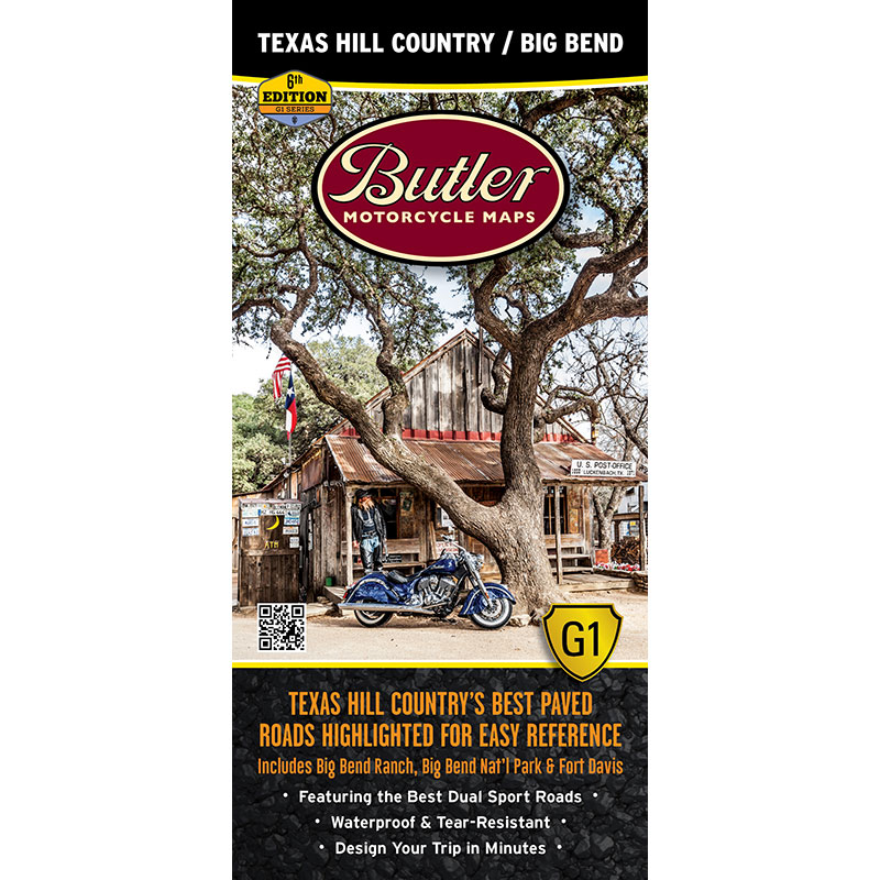 Texas Hill Country Big Bend Np G1 Map New 6th Edition