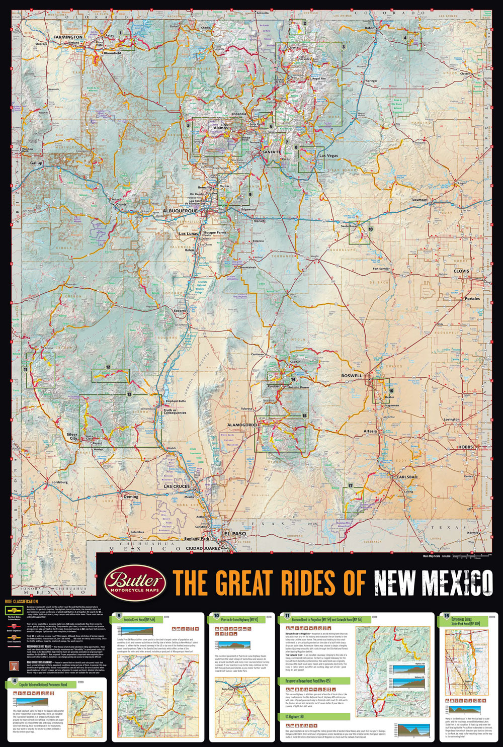 New Mexico G1 Map Butler Motorcycle Maps