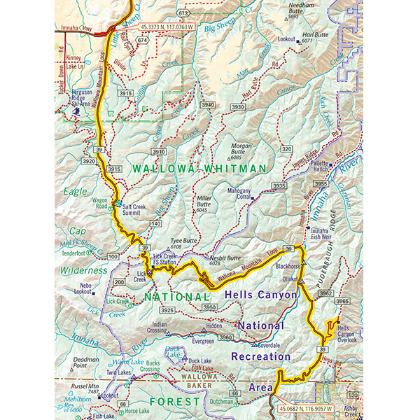 Oregon Map Image.Oregon G1 Map Butler Motorcycle Maps